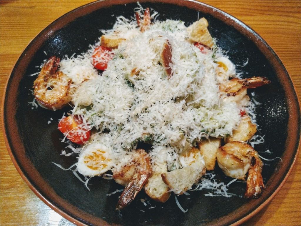 Ave  Caesar  top 8 мест  где в Саранске можно попробовать салат  Цезарь  с креветками bizon