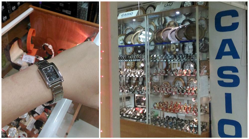 «Японская» витрина магазина плюс модель Casio, 4000 рублей