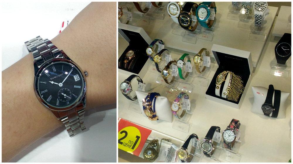 Одна извитрин «Санлайта» плюс модель местного бренда, 2500 рублей