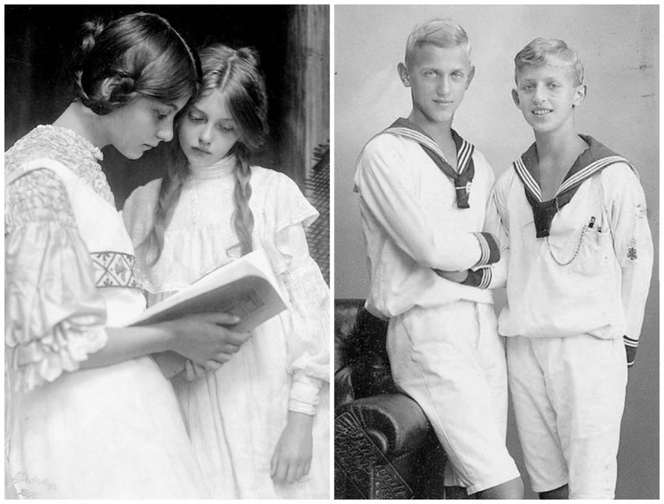Германия. Слева — Гертруда и Урсула Фальке, дочери немецкого писателя Густава Фальке
