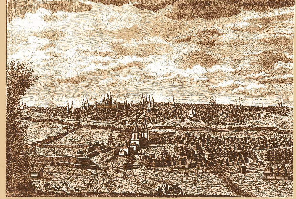b Старый   новый     b  Саранск Саранск образца XVIII века на гравюре, дошедшей до наших дней