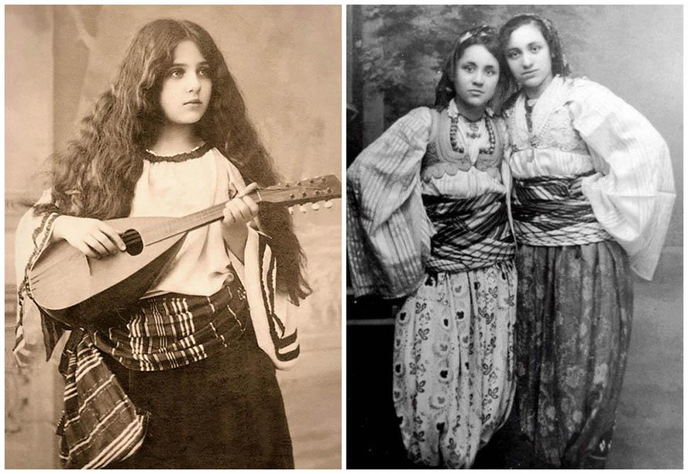 Румыния и Албания. На фото справа — две албанские девушки примерно 13–14 лет. Девушка слева впоследствии станет известна всему миру как мать Тереза