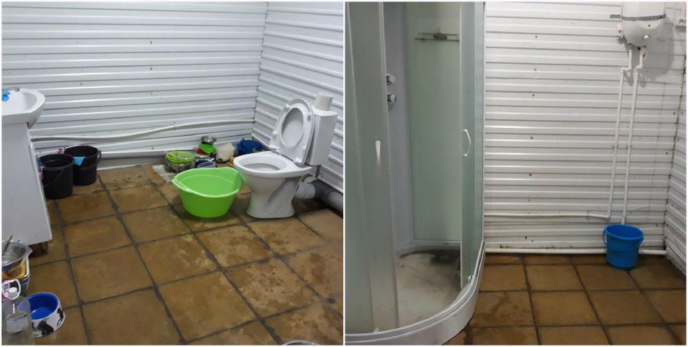 В первом корпусе есть туалет и дешевая, но из крана льется только холодная вода.