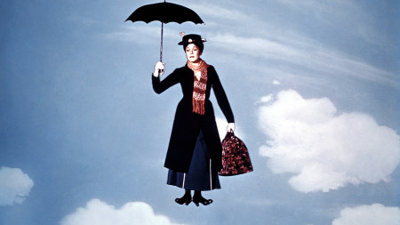 No Merchandising. Editorial Use Only Mandatory Credit: Photo by Everett Collection / Rex Features ( 620889g ) 'Mary Poppins', Julie Andrews 'Mary Poppins' Film - 1964