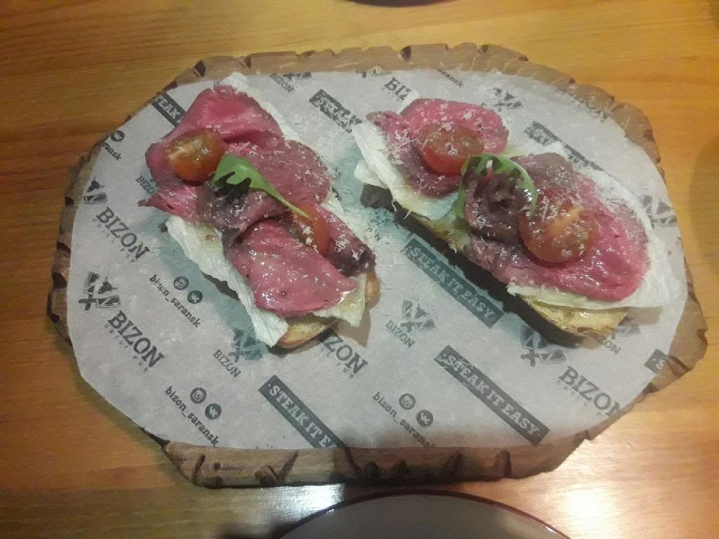 Казалось бы  бутерброд  как бутерброд  обошли 8 заведений города  в поисках настоящей   брускетты с ростбифом    bizon