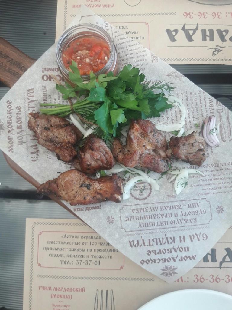 Ресторанный шашлык  топ 7 заведений Саранска  где можно попробовать   шашлык из свинины    podvorie